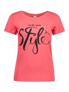 Jacqueline de Yong T-shirt JDYCHICAGO 5 S/S PRINT TOP 06 JRS 15136986 Teaberry/STYLE