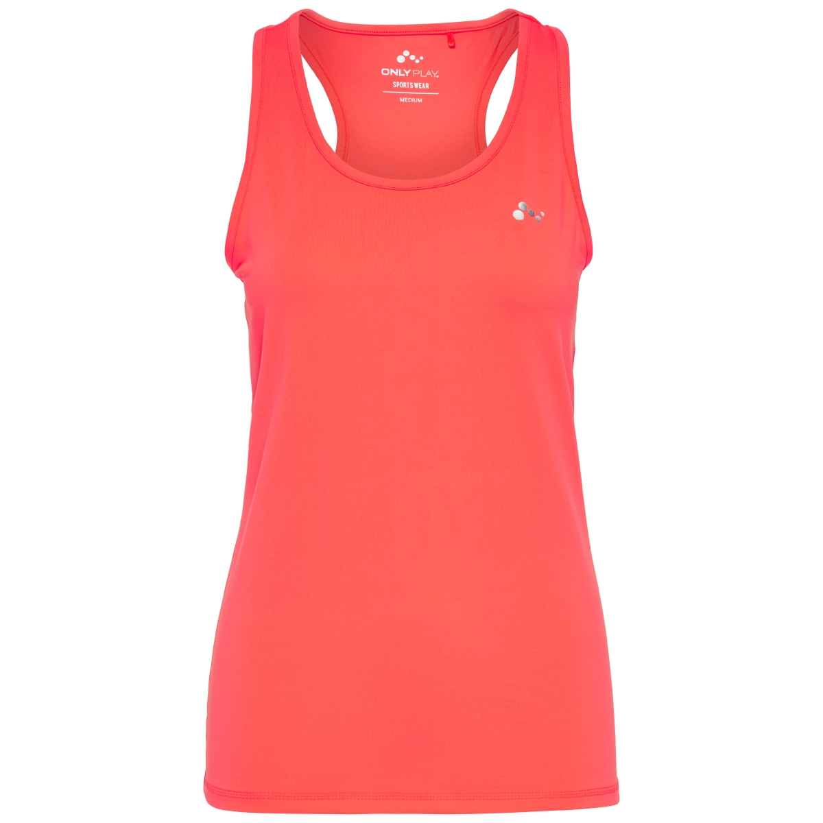 onpclaire plain sl training  top 15103788 only play sport top bright coral