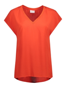 Vila T-shirt VILALLA TOP/1 14044277 Fiery Red