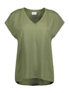 Vila T-shirt VILALLA TOP/1 14044277 Olivine