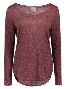 Vero Moda T-shirt VMLUA LS TOP NOOS 10158658 Zinfandel