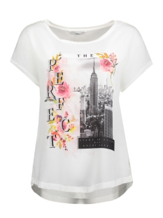 Only T-shirt onlMOTIVE S/S TOP BOX JRS 15147683 White/City