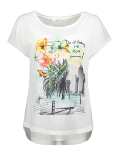 Only T-shirt onlMOTIVE S/S TOP BOX JRS 15147683 White/Do it today