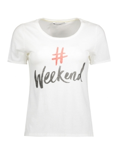 Only T-shirt onlHAPPY EVE S/S TEE JRS 15145687 Cloud Dancer/Weekend
