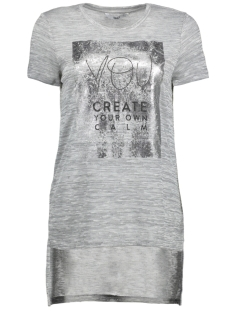 Only T-shirt onlCALMING  S/S TOP JRS 15147685 Light Grey Mela/You Create