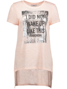 Only T-shirt onlCALMING  S/S TOP JRS 15147685 Rose Smoke/ I Did not