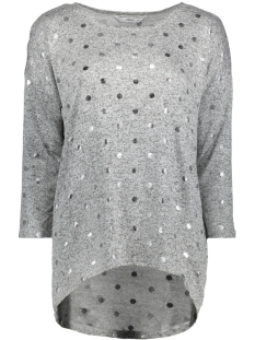 Only T-shirt onlMELIA DOT 3/4 TOP JRS 15143285 Light Grey Mela/Silver Dot