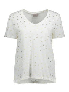 Vero Moda T-shirt VMFOILY  S/S TOP EXP 10193470 Snow White/Birds Gold