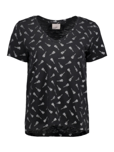 Vero Moda T-shirt VMFOILY  S/S TOP EXP 10193470 Black/Guitar Sil