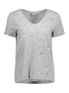 Vero Moda T-shirt VMFOILY  S/S TOP EXP 10193470 Light Grey Mela/Feather  Si