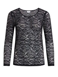 Vila T-shirt VILAIKA L/S LACE TOP 14041859 Black