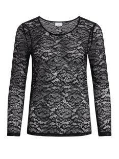 vilaika l/s lace top 14041859 vila t-shirt black