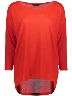 Only Trui onlELCOS 4/5 PLAIN TOP JRS 15148752 Flame Scarlet