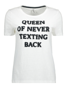 Only T-shirt onlMADISON S/S BAE/QUEEN TOP BOX ES 15143242 Bright White/Queen
