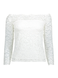 Vero Moda T-shirt VMCOCO OFF SHOULDER L/S LACE TOP NF 10169158 Snow White