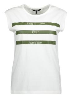 Vero Moda T-shirt VMDREAM S/L MIDI  TEE JRS 10191797 Snow White/Green Pu W