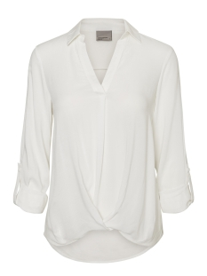 VMSUE ELLA L/S COLLAR WRINKLY  TOP 10183794 Snow White