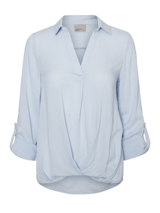 VMSUE ELLA L/S COLLAR WRINKLY  TOP 10183794 Cashmere Blue