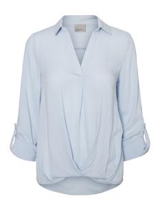 Vero Moda Blouse VMSUE ELLA L/S COLLAR WRINKLY  TOP 10183794 Cashmere Blue