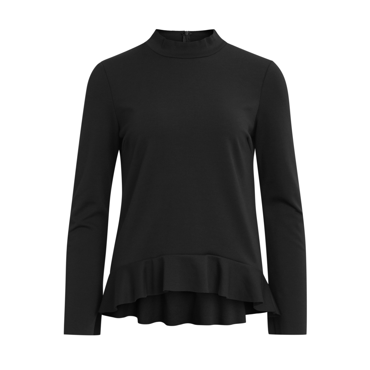 vifaunas l/s flounce top/dc 14043196 vila t-shirt black