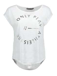 Only Play Sport shirt onpSESA CURVED SS TEE 15134001 White/Silver