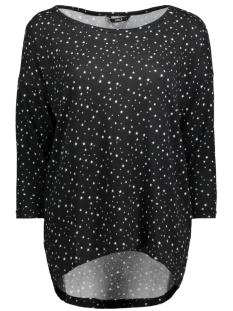 Only T-shirt onlELCOS 4/5 AOP TOP JRS NOOS 15144286 Black/W. Cloud D