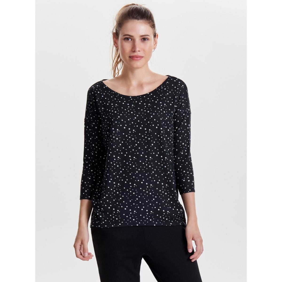 onlelcos 4/5 aop top jrs noos 15144286 only t-shirt black/w. cloud d