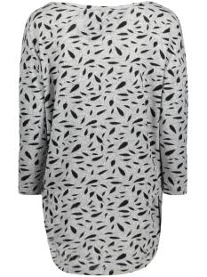 onlelcos 4/5 aop top jrs noos 15144286 only t-shirt light grey mela/w. black f