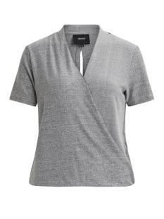 Object T-shirt OBJKYLIE S/S TOP 92 23024724 Light Grey Melange