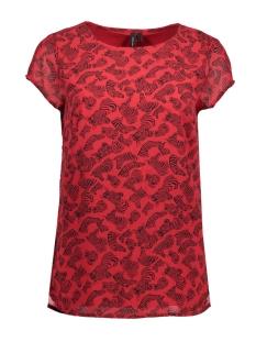 Vero Moda T-shirt VMLIZ S/S SIDE SLIT BOCA FF17 10188890 Toreador/ Zebra