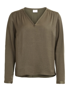 Vila Blouse VICAVA L/S V-NECK TOP-NOOS 14042801 Ivy Green