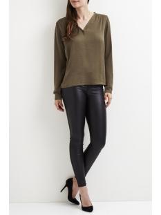 vicava l/s v-neck top-noos 14042801 vila blouse ivy green