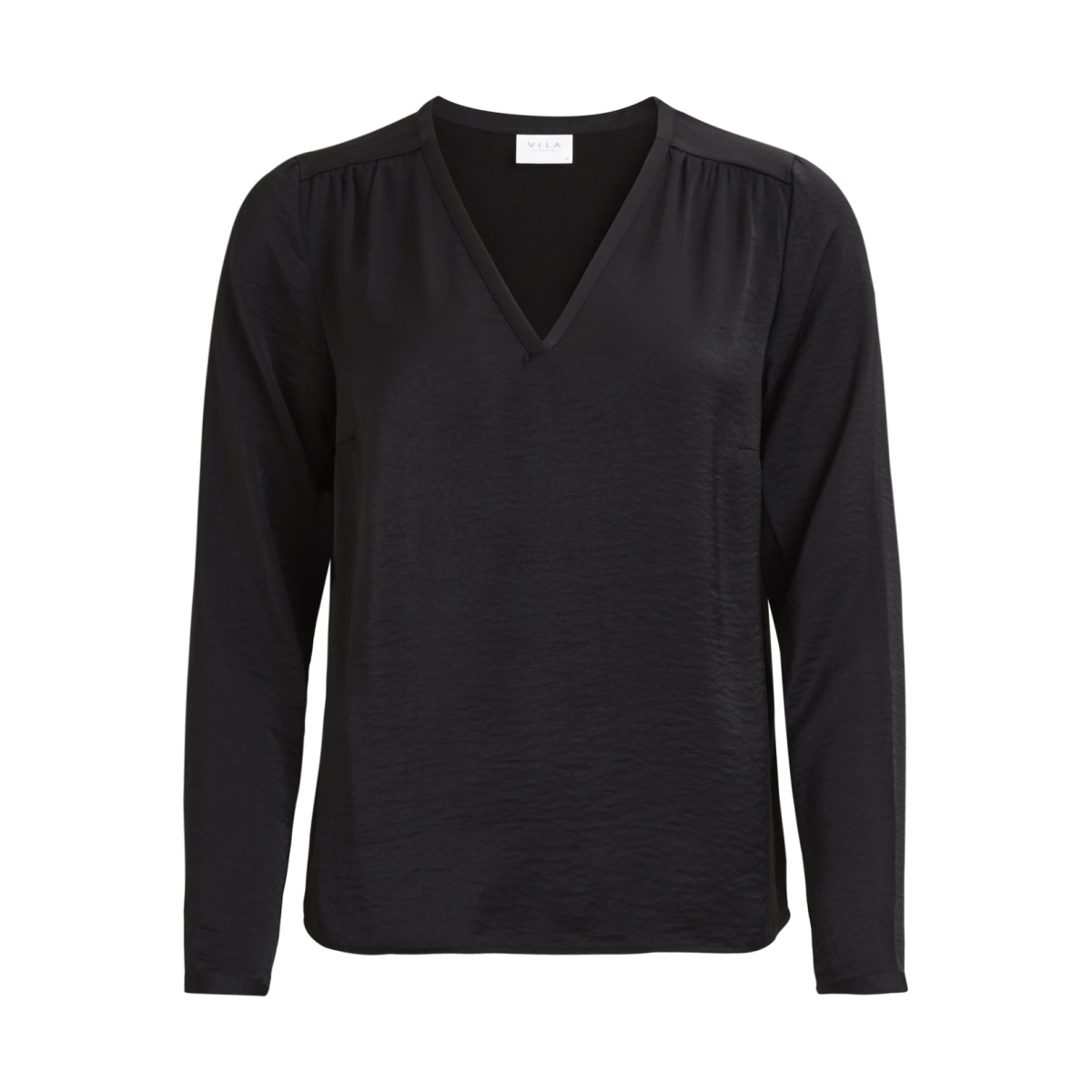vicava l/s v-neck top-noos 14042801 vila blouse black