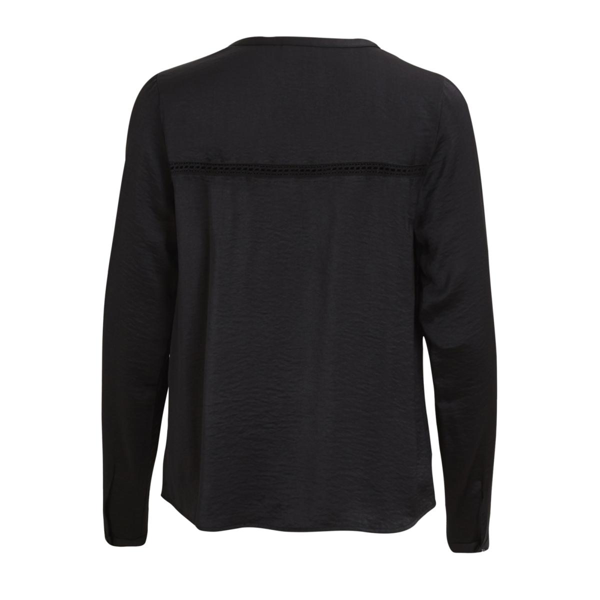vicava l/s v-neck top-noos 14042801 vila blouse black