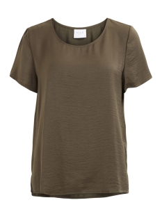 vicava s/s top-noos 14042592 vila t-shirt ivy green