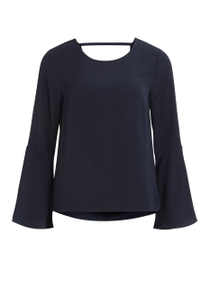 vibrava l/s top/dc/gv 14043391 vila blouse dark navy