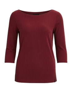 Object T-shirt OBJSHANNON 3/4 TOP 93 23025279 Pomegranate