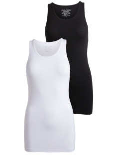 Pieces Top PCHOLLY TANK TOP 2-PACK 17072576 Black 2 Pack