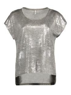 onlPLEARL S/S TOP JRS RP2 15135350 Light Grey Mela/Silver