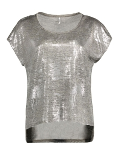 Only T-shirt onlPLEARL S/S TOP JRS RP2 15135350 Light Grey Mela/Silver