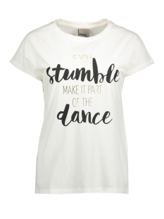 Vero Moda T-shirt VMNORA SS WIDE TOP JRS GA BOO 10179969 Snow White/ Stumble Dance
