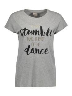 Vero Moda T-shirt VMNORA SS WIDE TOP JRS GA BOO 10179969 Light Grey Melange/ Stumble Dance