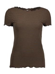 Jacqueline de Yong T-shirt JDYLUXE S/S TOP JRS 15137055 Dark Olive/ Black