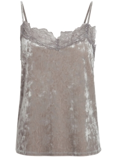 Pieces Top PCEDITH VELVET SLIP TOP FF 17084759 Silver Colour