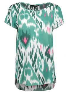 Vero Moda T-shirt VMMARRAKECH S/S TOP EXP 10193730 Snow White/ Green and