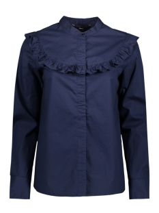 Vero Moda Blouse VMCHERRY COTTON L/S MIDI TOP D2-5 10183808 Navy Blazer