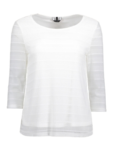 Vero Moda T-shirt VMLOLA 3/4 LACE TOP JRS 10186132 Snow White