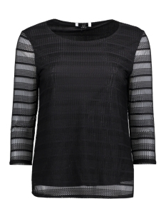 Vero Moda T-shirt VMLOLA 3/4 LACE TOP JRS 10186132 Black