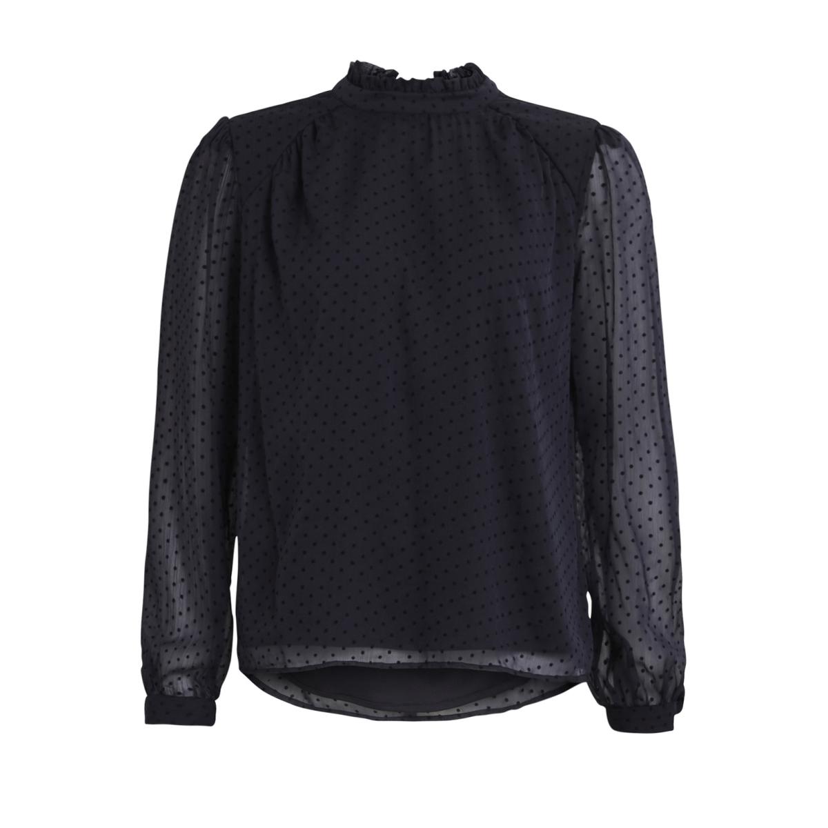 viamo l/s top 14044554 vila blouse dark navy