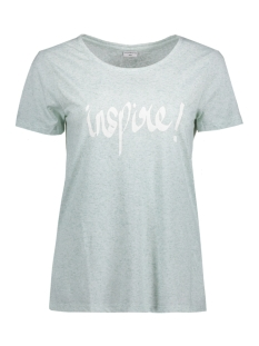 Jacqueline de Yong T-shirt JDYBOLETTE S/S PRINT TOP JRS 15133655 Blue Haze/ Inspire